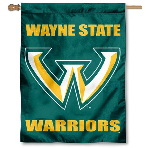 Wayne State University Banner Flag is a vertical house flag which measures 30x40 inches, is made of 2 ply 100% polyester, offers dye sublimated NCAA team insignias, and has a top pole sleeve to hang vertically. Our Wayne State University Banner Flag is officially licensed by the selected university and the NCAA.