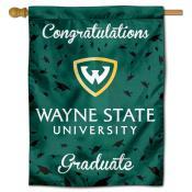 Wayne State Warriors Congratulations Graduate Flag