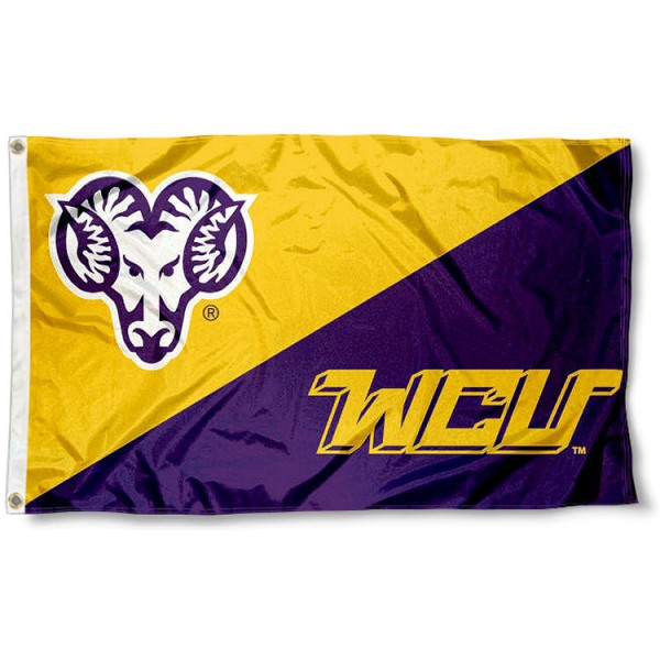 WCU Golden Rams Logo Flag measures 3'x5', is made of 100% poly, has quadruple stitched sewing, two metal grommets, and has double sided Team University logos. Our WCU Golden Rams 3x5 Flag is officially licensed by the selected university and the NCAA.