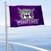 Weber State Wildcats Boat and Mini Flag