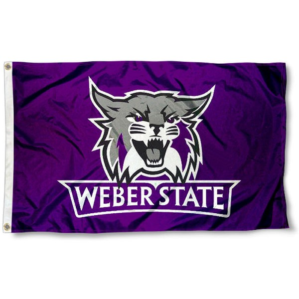 Weber State Wildcats Flag measures 3'x5', is made of 100% poly, has quadruple stitched sewing, two metal grommets, and has double sided Weber State University logos. Our Weber State Wildcats Flag is officially licensed by the selected university and the NCAA