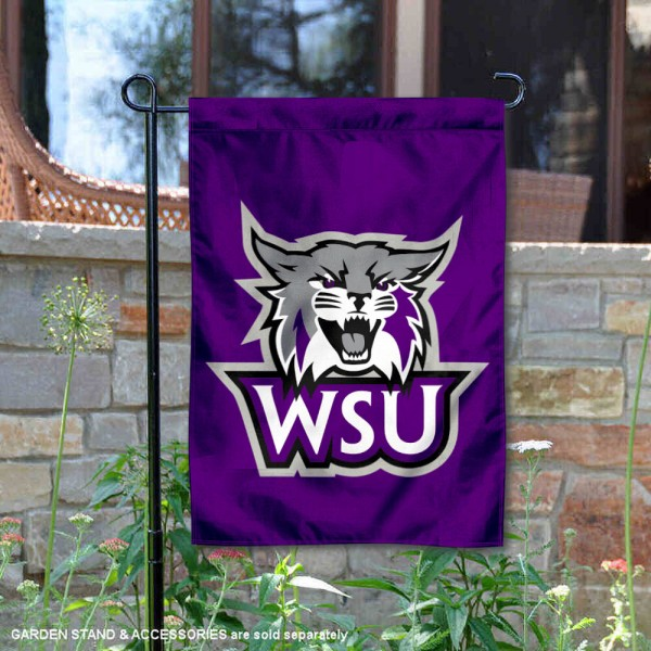 Weber State Wildcats Garden Flag is 13x18 inches in size, is made of 2-layer polyester, screen printed university athletic logos and lettering, and is readable and viewable correctly on both sides. Available same day shipping, our Weber State Wildcats Garden Flag is officially licensed and approved by the university and the NCAA.