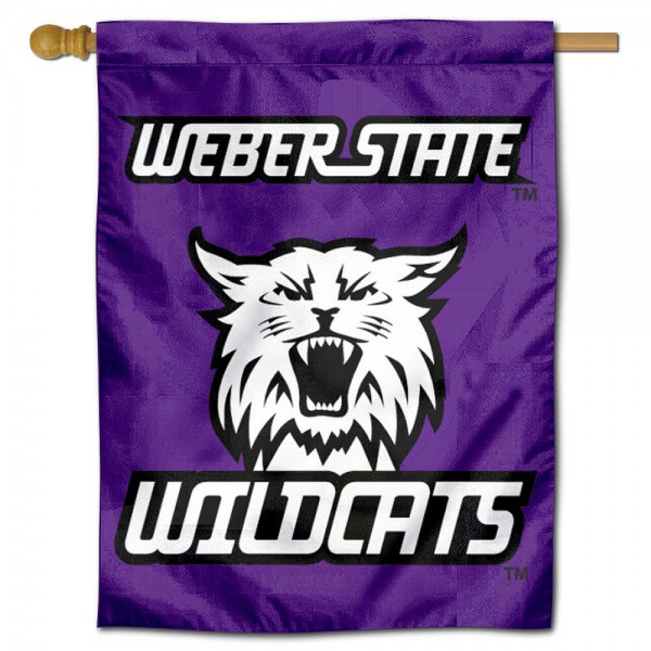 Weber State Wildcats Retro Logo Double Sided House Flag is a vertical house flag which measures 30x40 inches, is made of 2 ply 100% polyester, offers screen printed NCAA team insignias, and has a top pole sleeve to hang vertically. Our Weber State Wildcats Retro Logo Double Sided House Flag is officially licensed by the selected university and the NCAA.