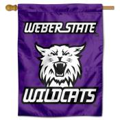 Weber State Wildcats Retro Logo Double Sided House Flag