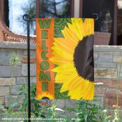 Welcome with Sunflowers Garden Flag