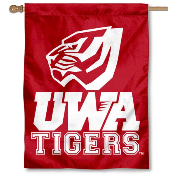 West Alabama Tigers House Flag is a vertical house flag which measures 30x40 inches, is made of 2 ply 100% polyester, offers screen printed NCAA team insignias, and has a top pole sleeve to hang vertically. Our West Alabama Tigers House Flag is officially licensed by the selected university and the NCAA.