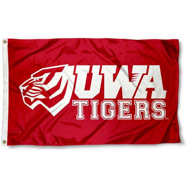 West Alabama Tigers UWA Logo Flag measures 3'x5', is made of 100% poly, has quadruple stitched sewing, two metal grommets, and has double sided Team University logos. Our West Alabama Tigers UWA Logo Flag is officially licensed by the selected university and the NCAA.