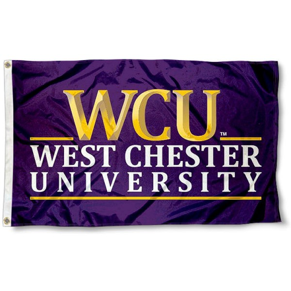 West Chester Golden Rams Logo Flag measures 3'x5', is made of 100% poly, has quadruple stitched sewing, two metal grommets, and has double sided Team University logos. Our West Chester Golden Rams 3x5 Flag is officially licensed by the selected university and the NCAA.