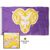 West Chester Golden Rams Nylon Embroidered Flag
