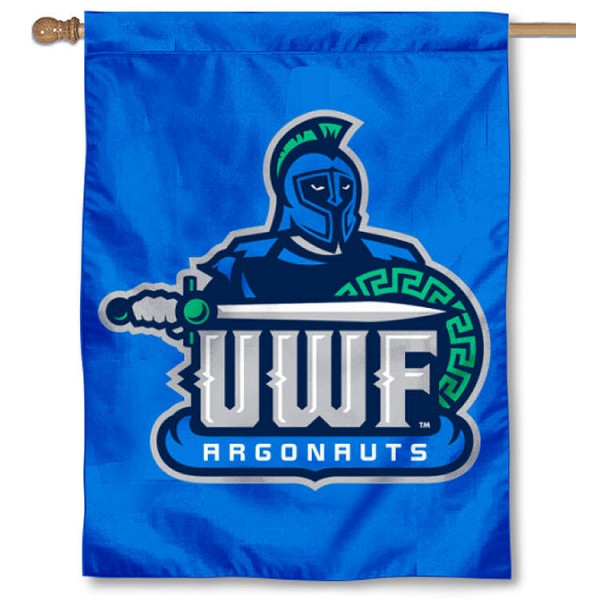 West Florida Argos House Flag is a vertical house flag which measures 30x40 inches, is made of 2 ply 100% polyester, offers screen printed NCAA team insignias, and has a top pole sleeve to hang vertically. Our West Florida Argos House Flag is officially licensed by the selected university and the NCAA.