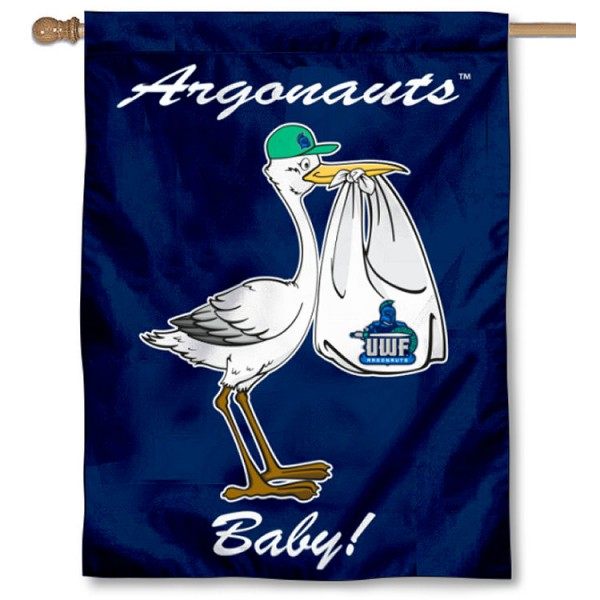 West Florida Argos New Baby Flag measures 30x40 inches, is made of poly, has a top hanging sleeve, and offers dye sublimated West Florida Argos logos. This Decorative West Florida Argos New Baby House Flag is officially licensed by the NCAA.