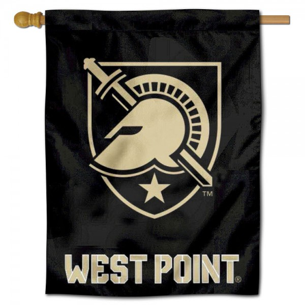 "West Point Athena Shield House Flag is constructed of polyester material, is a vertical house flag, measures 30""x40"", offers screen printed athletic insignias, and has a top pole sleeve to hang vertically. Our West Point Athena Shield House Flag is Officially Licensed by West Point Athena Shield and NCAA."