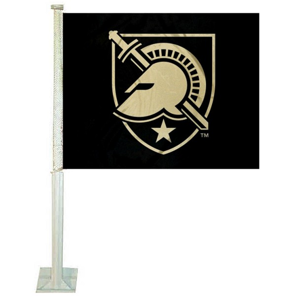 West Point Car Window Flag measures 12x15 inches, is constructed of sturdy 2 ply polyester, and has screen printed school logos which are readable and viewable correctly on both sides. West Point Car Window Flag is officially licensed by the NCAA and selected university.