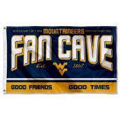 West Virginia Fan Man Cave Game Room Banner Flag