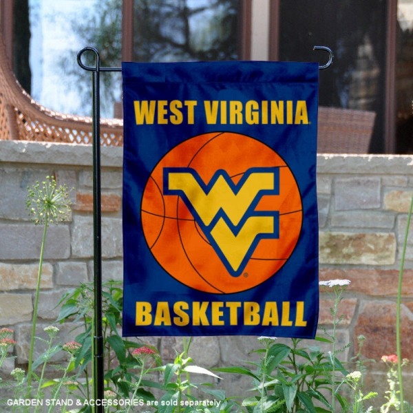 West Virginia Mountaineers Basketball Garden Banner is 13x18 inches in size, is made of 2-layer polyester, screen printed athletic logos and lettering. Available with Same Day Express Shipping, Our West Virginia Mountaineers Basketball Garden Banner is officially licensed and approved by the school and the NCAA.