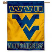 West Virginia Mountaineers Double Sided House Flag