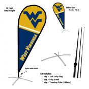 West Virginia Mountaineers Feather Flag Kit