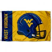 West Virginia Mountaineers Football Helmet Flag