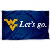 West Virginia Mountaineers Let's Go Flag