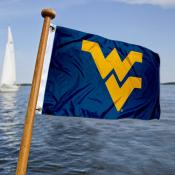 West Virginia Mountaineers  Nautical Flag