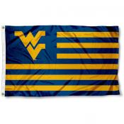 West Virginia Mountaineers Striped Flag