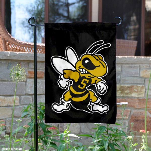 West Virginia State University Garden Flag is 13x18 inches in size, is made of 2-layer polyester, screen printed university athletic logos and lettering, and is readable and viewable correctly on both sides. Available same day shipping, our West Virginia State University Garden Flag is officially licensed and approved by the university and the NCAA.