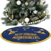 West Virginia Univ Mountaineers Christmas Tree Skirt