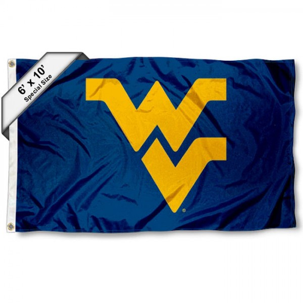 West Virginia University 6'x10' Flag measures 6x10 feet, is made of thick poly, has quadruple-stitched fly ends, and WVU Mountaineers logos are screen printed into the WVU Mountaineers 6'x10' Flag. This 6'x10' Flag is officially licensed by and the NCAA.