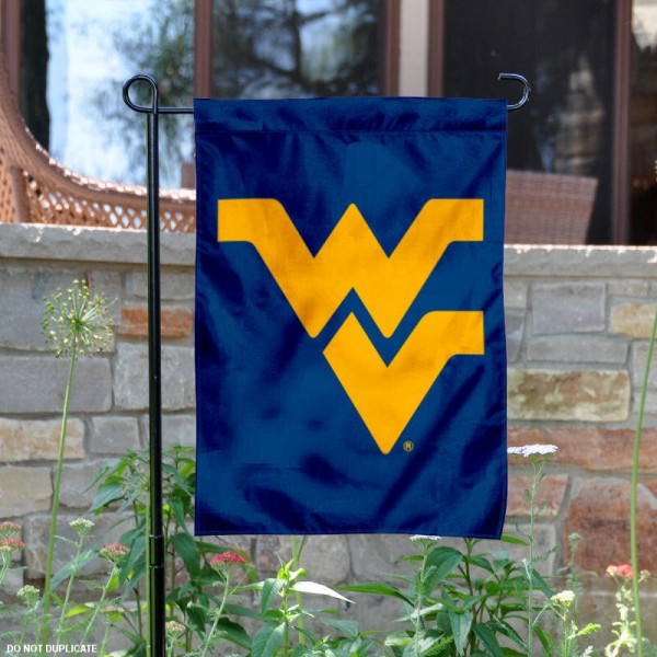 West Virginia University Blue Garden Banner is 13x18 inches in size, is made of 2-layer polyester, screen printed Mountaineers athletic logos and lettering. Available with Same Day Express Shipping, Our West Virginia University Blue Garden Banner is officially licensed and approved by Mountaineers and the NCAA.