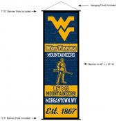 West Virginia University Decor and Banner