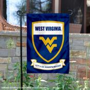 West Virginia University Lets Go Mountaineers Shield Garden Flag