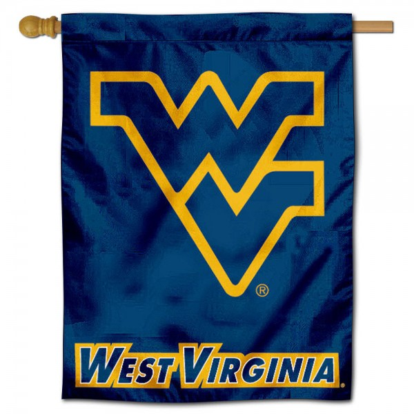 "West Virginia University Mountaineers Decorative Flag is constructed of polyester material, is a vertical house flag, measures 30""x40"", offers screen printed athletic insignias, and has a top pole sleeve to hang vertically. Our West Virginia University Mountaineers Decorative Flag is Officially Licensed by West Virginia University Mountaineers and NCAA."