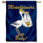 West Virginia University New Baby Flag