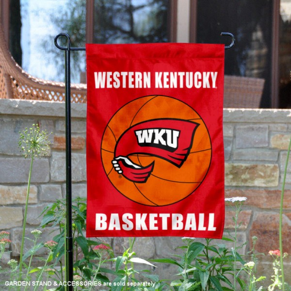 Western Kentucky Hilltoppers Basketball Garden Banner is 13x18 inches in size, is made of 2-layer polyester, screen printed athletic logos and lettering. Available with Same Day Express Shipping, Our Western Kentucky Hilltoppers Basketball Garden Banner is officially licensed and approved by the school and the NCAA.