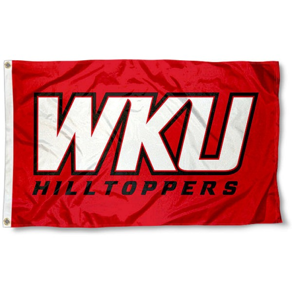 Western Kentucky Hilltoppers WKU Logo Flag measures 3x5 feet, is made of 100% polyester, offers quadruple stitched flyends, has two metal grommets, and offers screen printed NCAA team logos and insignias. Our Western Kentucky Hilltoppers WKU Logo Flag is officially licensed by the selected university and NCAA.