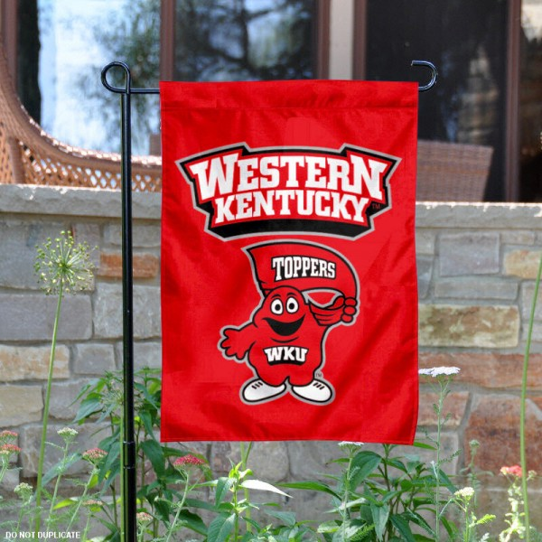 Western Kentucky University Garden Flag is 13x18 inches in size, is made of 2-layer polyester, screen printed Western Kentucky University athletic logos and lettering. Available with Same Day Express Shipping, Our Western Kentucky University Garden Flag is officially licensed and approved by Western Kentucky University and the NCAA.