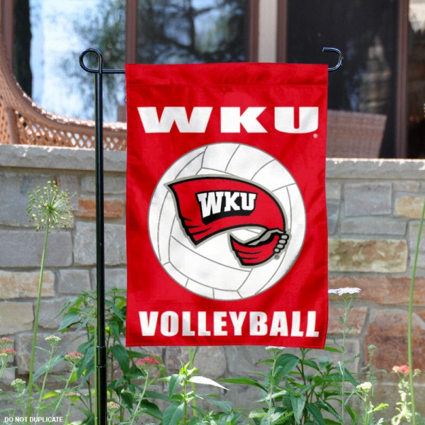 Western Kentucky University Volleyball Yard Flag is 13x18 inches in size, is made of 2-layer polyester, screen printed Western Kentucky Hilltoppers Volleyball athletic logos and lettering. Available with Same Day Express Shipping, Our Western Kentucky University Volleyball Yard Flag is officially licensed and approved by Western Kentucky Hilltoppers Volleyball and the NCAA.