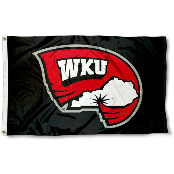 Western Kentucky WKU Hilltopper Flag measures 3'x5', is made of 100% poly, has quadruple stitched sewing, two metal grommets, and has double sided Western Kentucky University logos. Our Western Kentucky WKU Hilltopper Flag is officially licensed by the selected university and the NCAA.