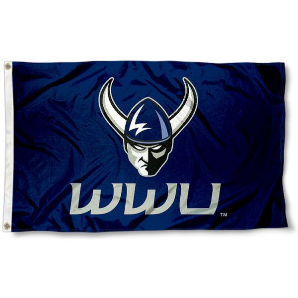Western Washington University Logo Outdoor Flag measures 3'x5', is made of 100% poly, has quadruple stitched sewing, two metal grommets, and has double sided WWU Vikings logos. Our WWU Vikings Logo Outdoor Flag is officially licensed by the selected university and the NCAA.