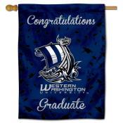 Western Washington Vikings Congratulations Graduate Flag