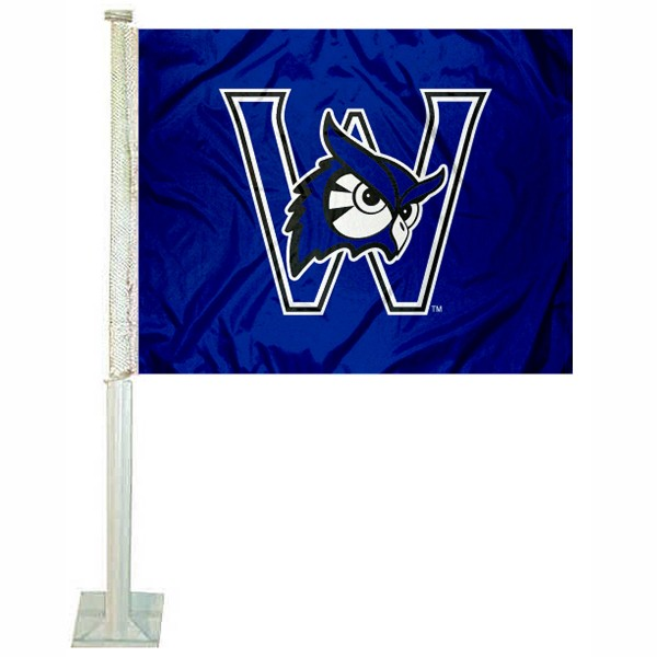 Westfield State Owls Car Flag measures 12x15 inches, is constructed of sturdy 2 ply polyester, and has screen printed school logos which are readable and viewable correctly on both sides. Westfield State Owls Car Flag is officially licensed by the NCAA and selected university.
