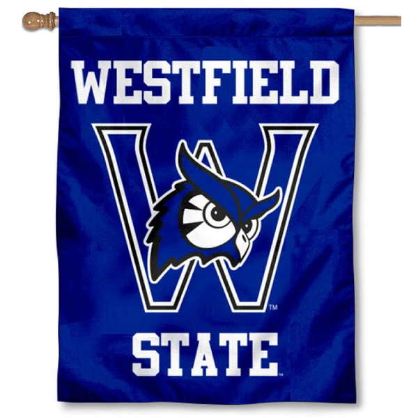 Westfield State Owls House Flag is a vertical house flag which measures 30x40 inches, is made of 2 ply 100% polyester, offers screen printed NCAA team insignias, and has a top pole sleeve to hang vertically. Our Westfield State Owls House Flag is officially licensed by the selected university and the NCAA.
