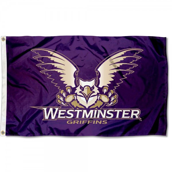 Westminster Griffins Flag measures 3x5 feet, is made of 100% polyester, offers quadruple stitched flyends, has two metal grommets, and offers screen printed NCAA team logos and insignias. Our Westminster Griffins Flag is officially licensed by the selected university and NCAA.