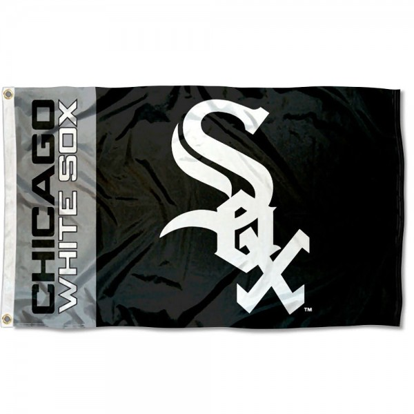 The White Sox Outdoor Flag is four-stitched bordered, double sided, made of poly, 3'x5', and has two grommets. These Chicago White Sox Outdoor Flags are MLB Genuine Merchandise.