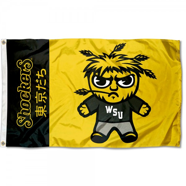Wichita State Kawaii Tokyo Dachi Yuru Kyara Flag measures 3x5 feet, is made of 100% polyester, offers quadruple stitched flyends, has two metal grommets, and offers screen printed NCAA team logos and insignias. Our Wichita State Kawaii Tokyo Dachi Yuru Kyara Flag is officially licensed by the selected university and NCAA.