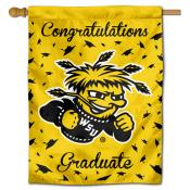 Wichita State Shockers Congratulations Graduate Flag