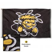 Wichita State Shockers Nylon Embroidered Flag