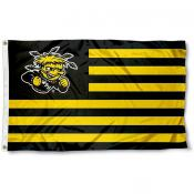Wichita State Shockers Stripes Flag