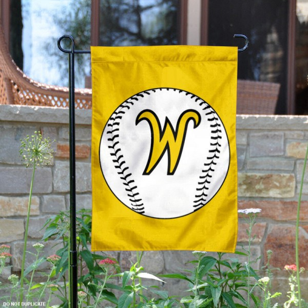 Wichita State University Baseball Garden Flag is 13x18 inches in size, is made of 2-layer polyester, screen printed Wichita State University Baseball athletic logos and lettering. Available with Express Shipping, Our Wichita State University Baseball Garden Flag is officially licensed and approved by Wichita State University Baseball and the NCAA.