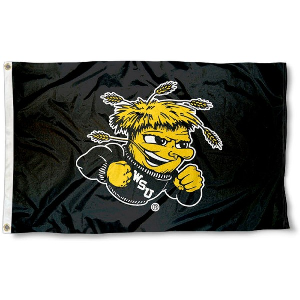 Wichita State University Black 3x5 Flag